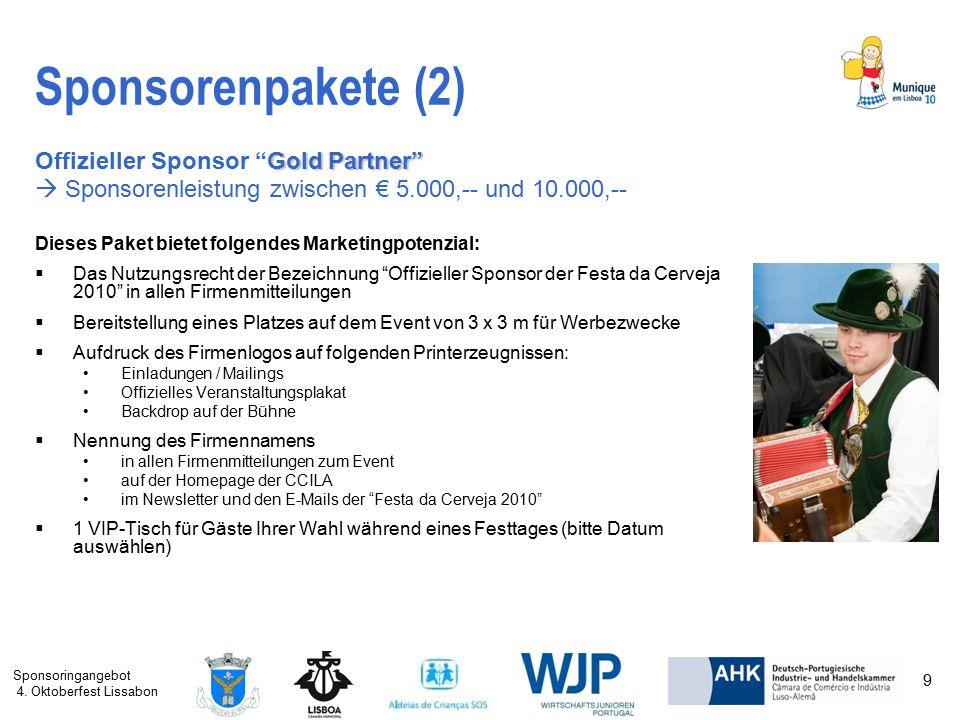 Sponsorenpakete (2) Offizieller Sponsor Gold Partner
