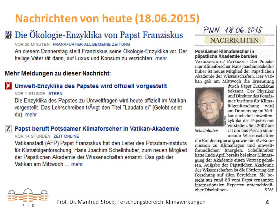 Nachrichten von heute (18.06.2015)