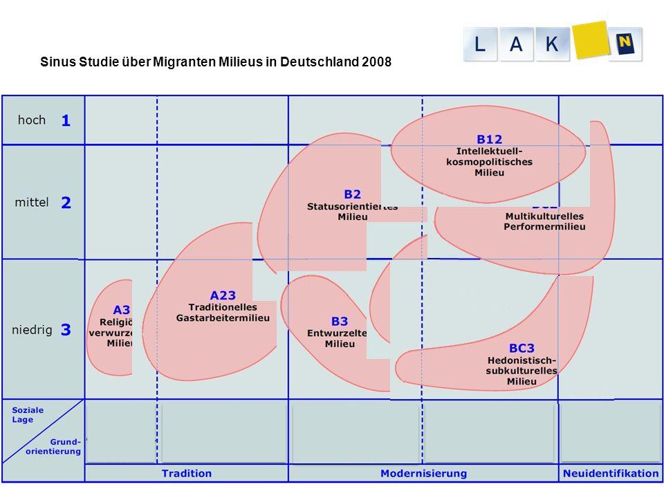 Sinus Studie über Migranten Milieus in Deutschland 2008