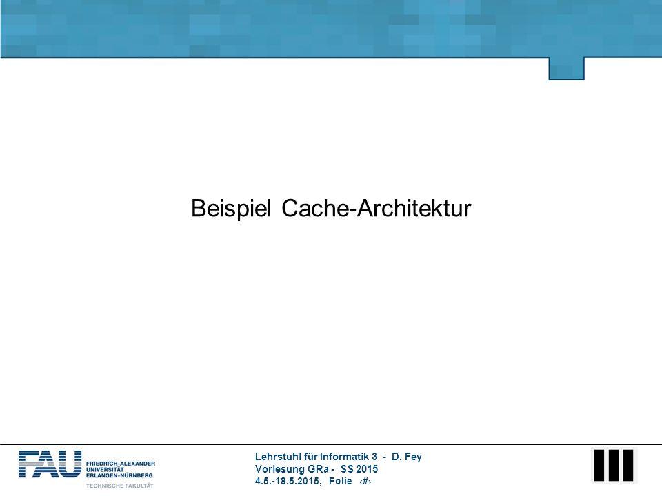 Beispiel Cache-Architektur