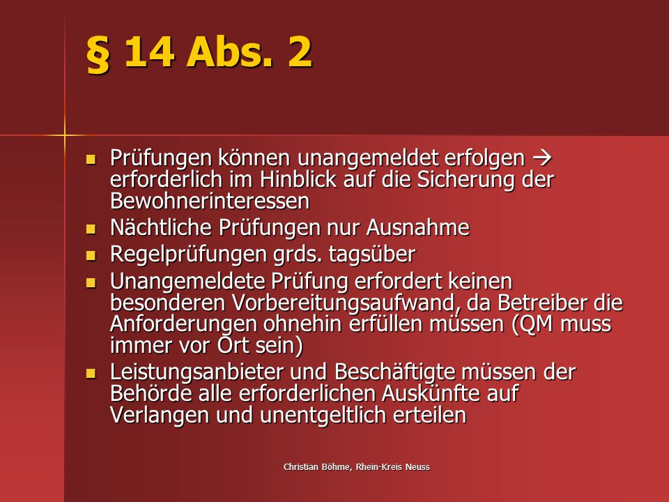 Christian Böhme, Rhein-Kreis Neuss