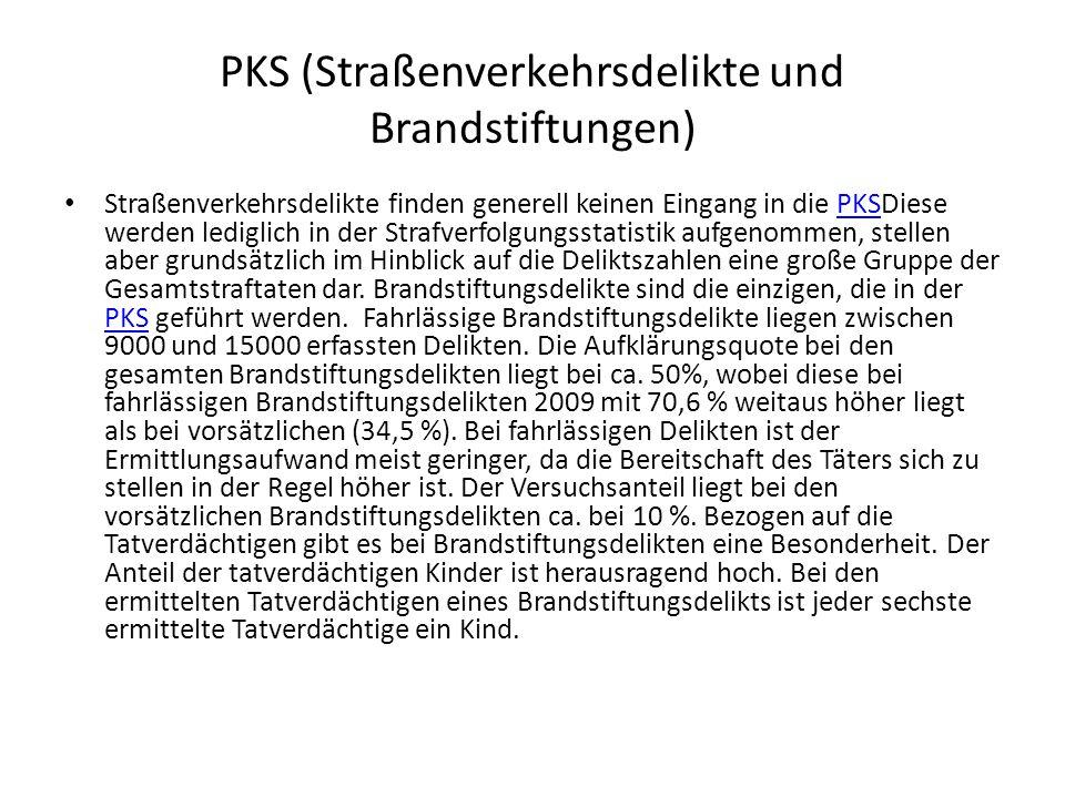 PKS (Straßenverkehrsdelikte und Brandstiftungen)