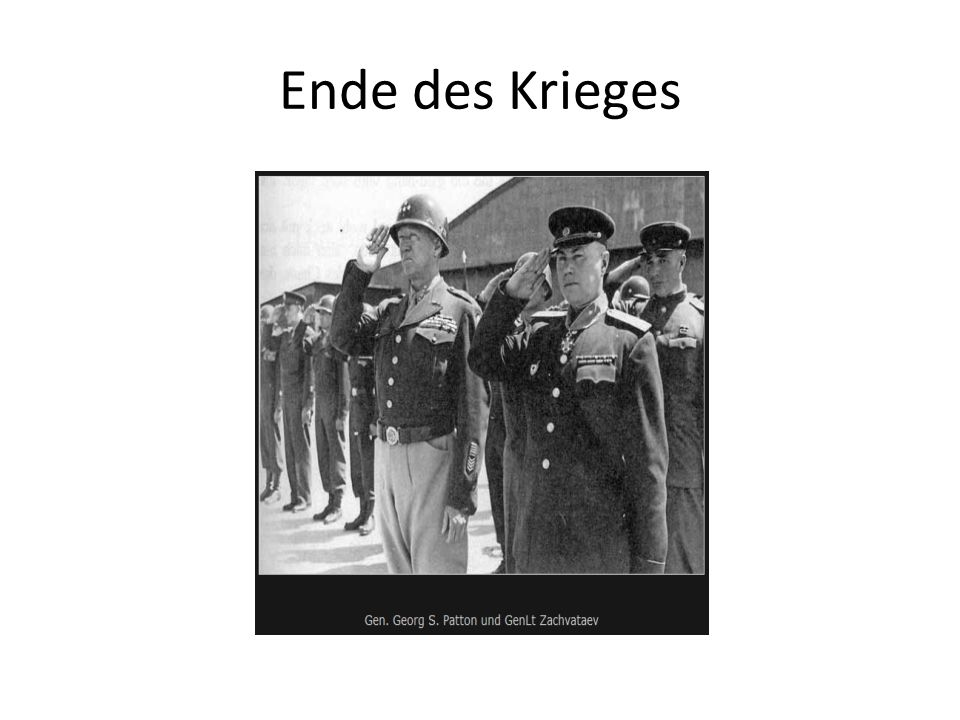 Ende des Krieges