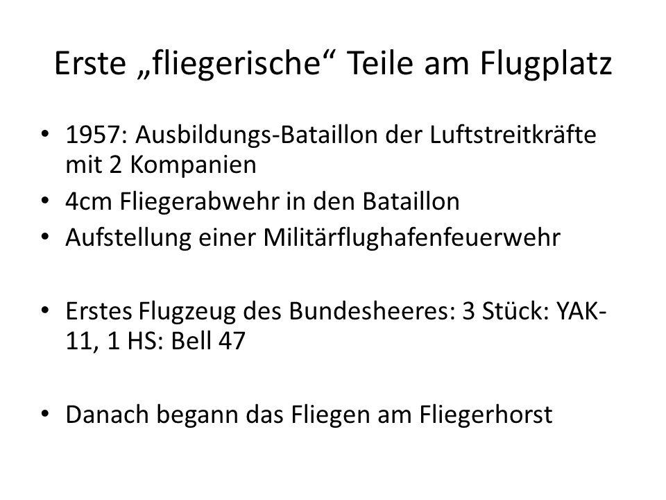 """Erste """"fliegerische Teile am Flugplatz"""