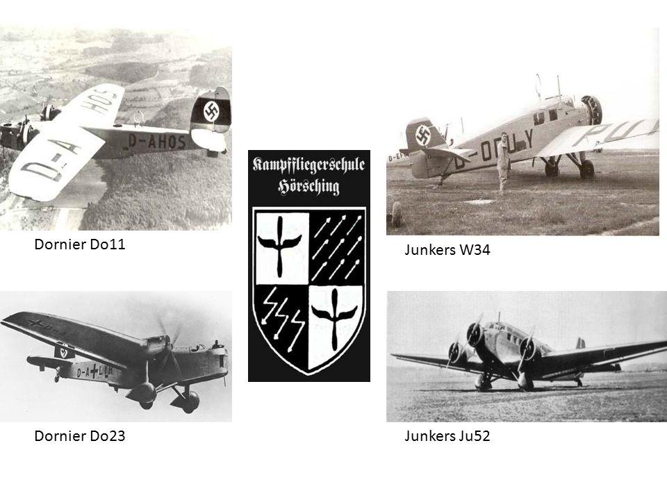 Dornier Do11 Junkers W34 Dornier Do23 Junkers Ju52
