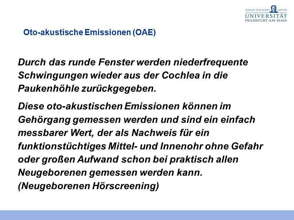Oto-akustische Emissionen (OAE)