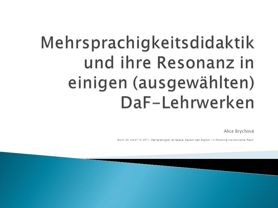 Mehrsprachigkeitsdidaktik und ihre Resonanz in einigen (ausgewählten) DaF-Lehrwerken