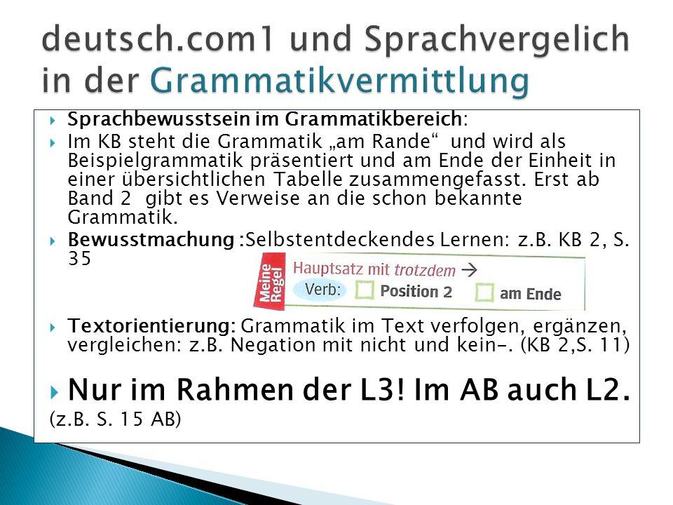 deutsch.com1 und Sprachvergelich in der Grammatikvermittlung