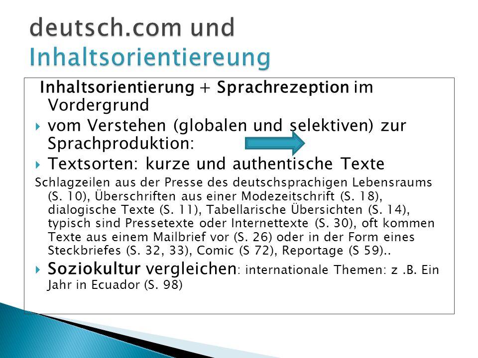 deutsch.com und Inhaltsorientiereung