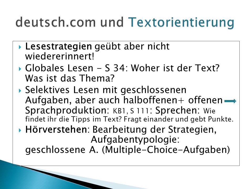 deutsch.com und Textorientierung