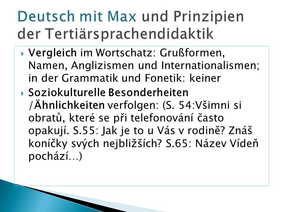 Deutsch mit Max und Prinzipien der Tertiärsprachendidaktik