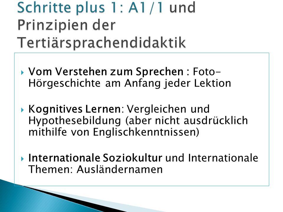 Schritte plus 1: A1/1 und Prinzipien der Tertiärsprachendidaktik