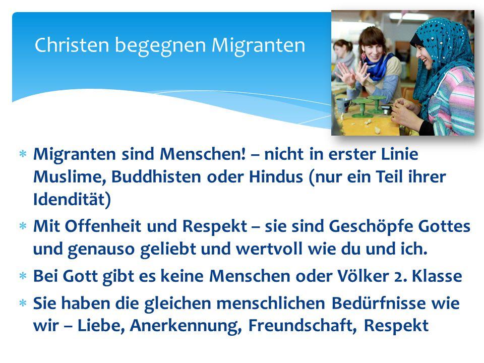 Christen begegnen Migranten