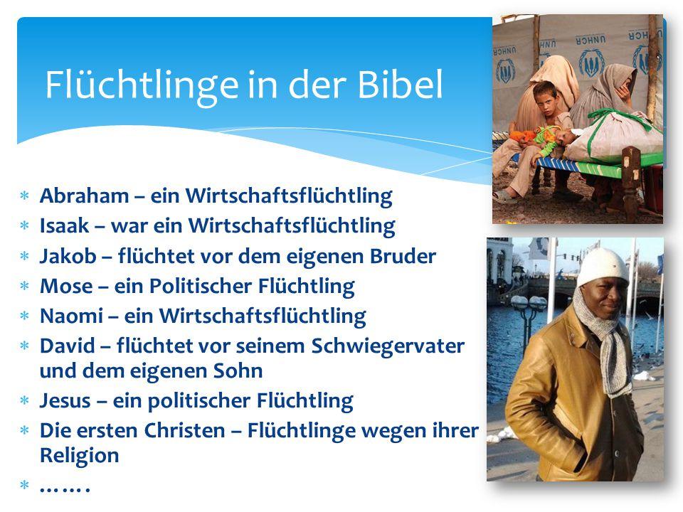 Flüchtlinge in der Bibel