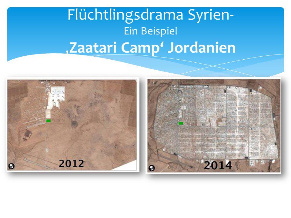 Flüchtlingsdrama Syrien- Ein Beispiel 'Zaatari Camp' Jordanien