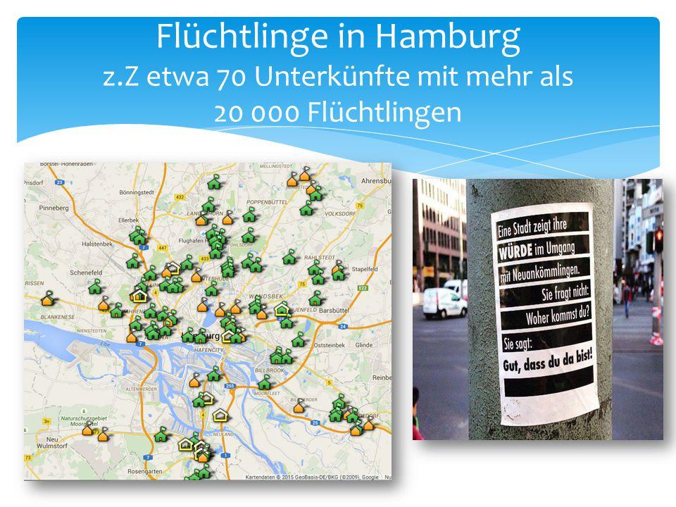 Flüchtlinge in Hamburg z