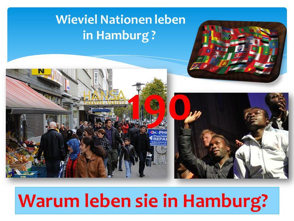 Wieviel Nationen leben in Hamburg