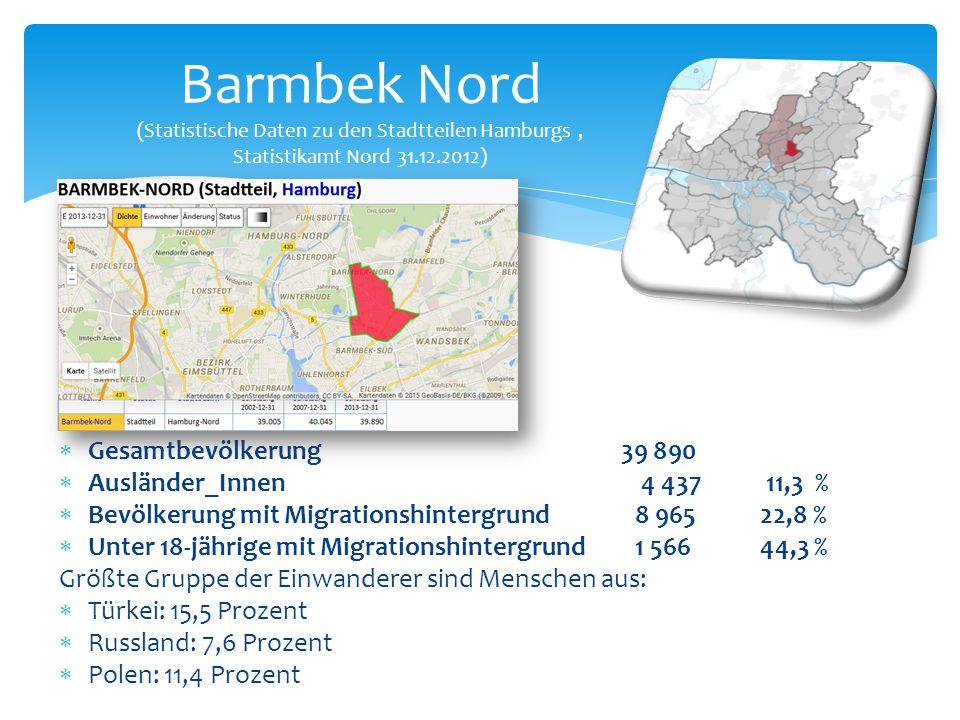 Barmbek Nord (Statistische Daten zu den Stadtteilen Hamburgs , Statistikamt Nord 31.12.2012)