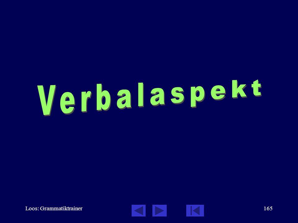 Verbalaspekt Loos: Grammatiktrainer