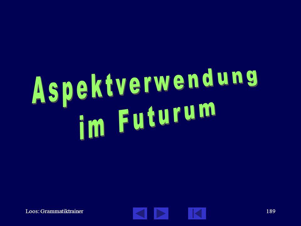 Aspektverwendung im Futurum Loos: Grammatiktrainer