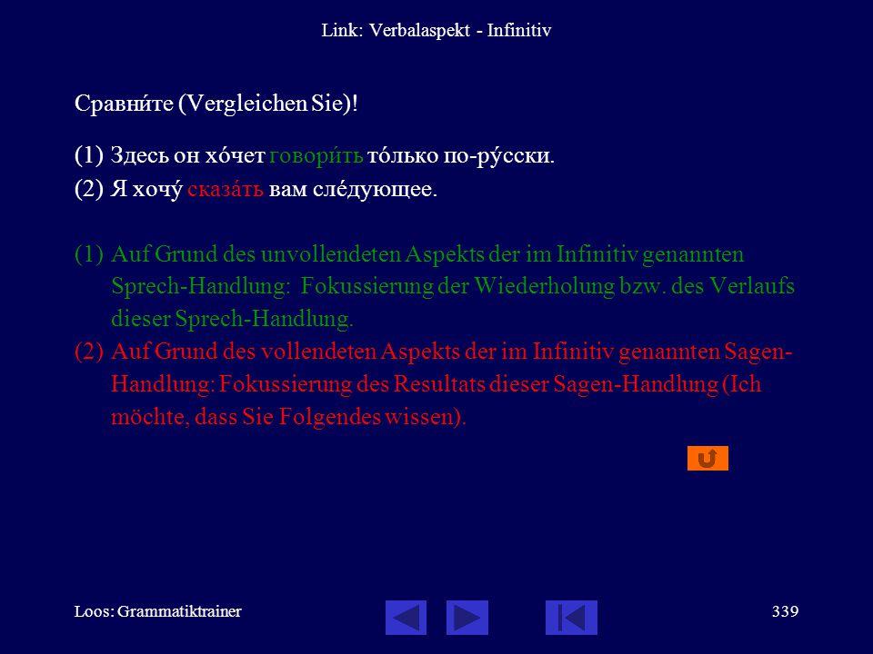 Link: Verbalaspekt - Infinitiv