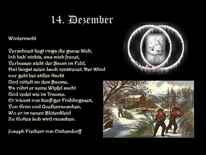 14. Dezember Winternacht.