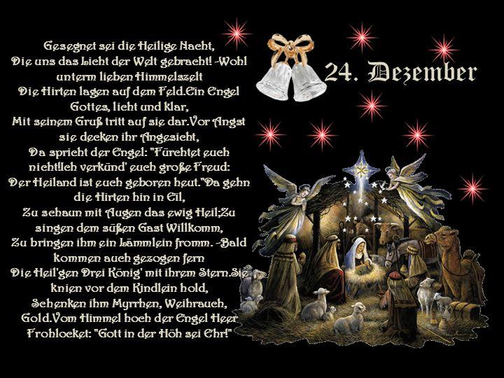 Gesegnet sei die Heilige Nacht, Die uns das Licht der Welt gebracht