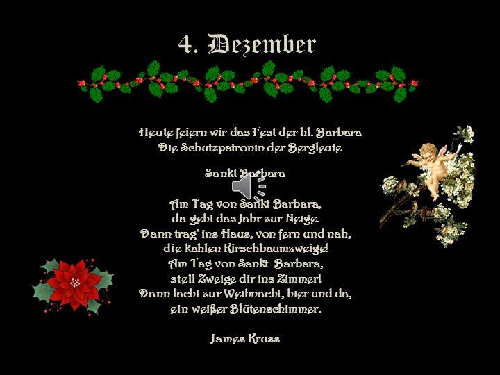 4. Dezember Heute feiern wir das Fest der hl. Barbara