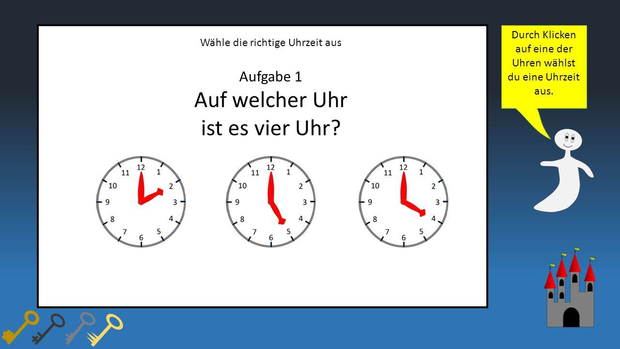 Auf welcher Uhr ist es vier Uhr