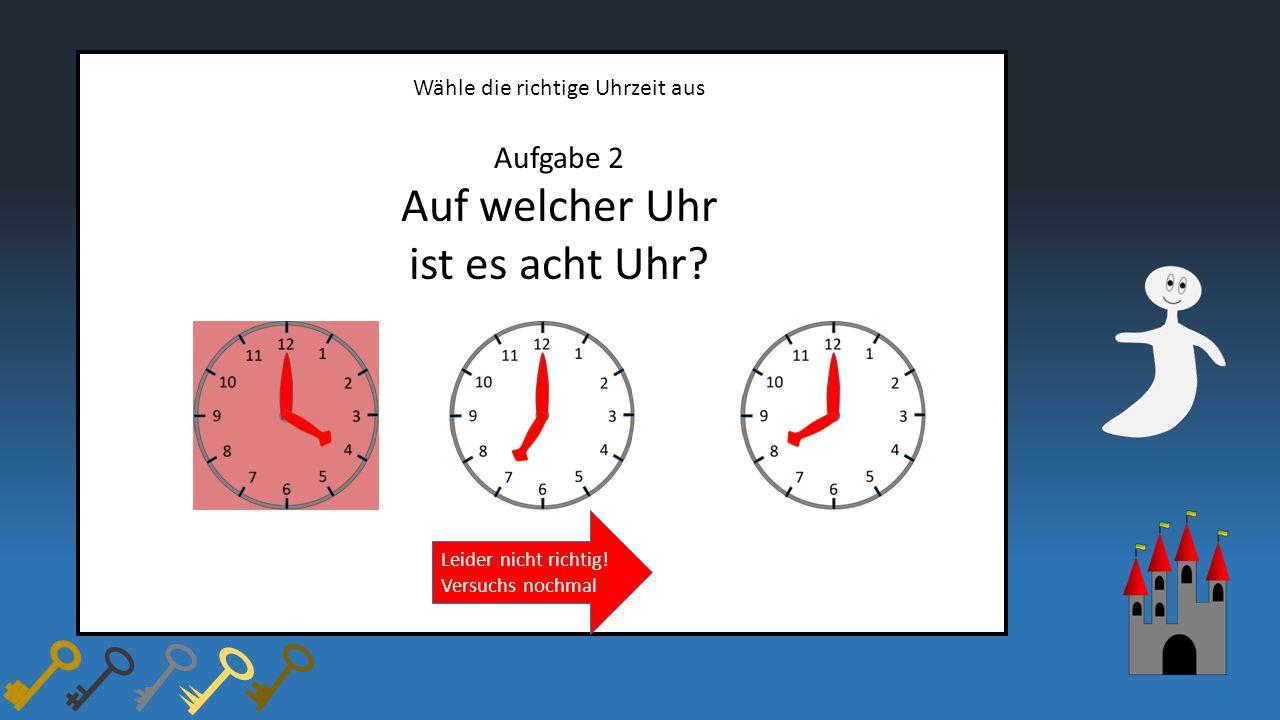 Auf welcher Uhr ist es acht Uhr