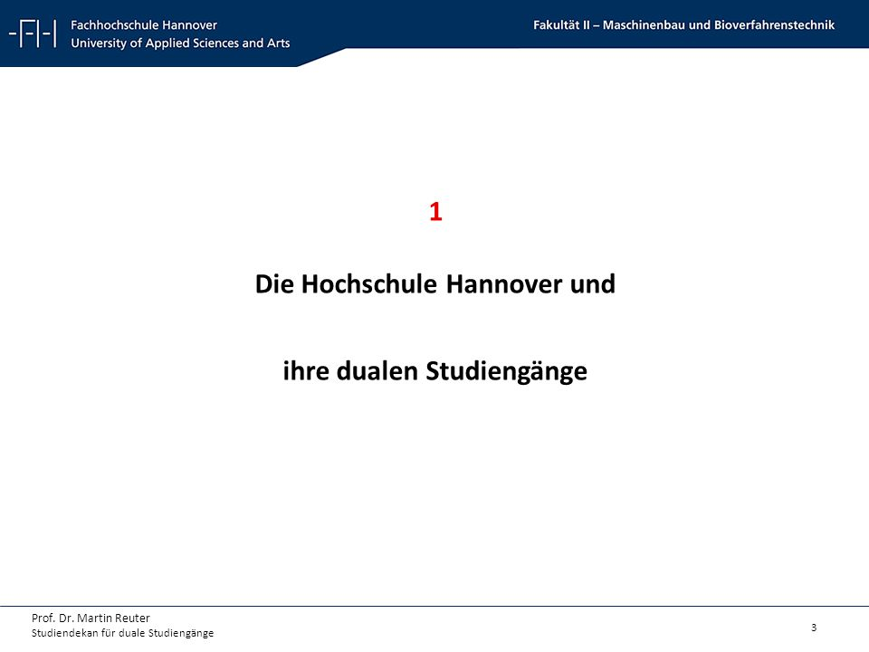 Die Hochschule Hannover und ihre dualen Studiengänge