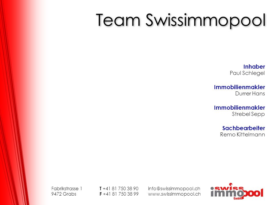Team Swissimmopool Inhaber Immobilienmakler Durrer Hans