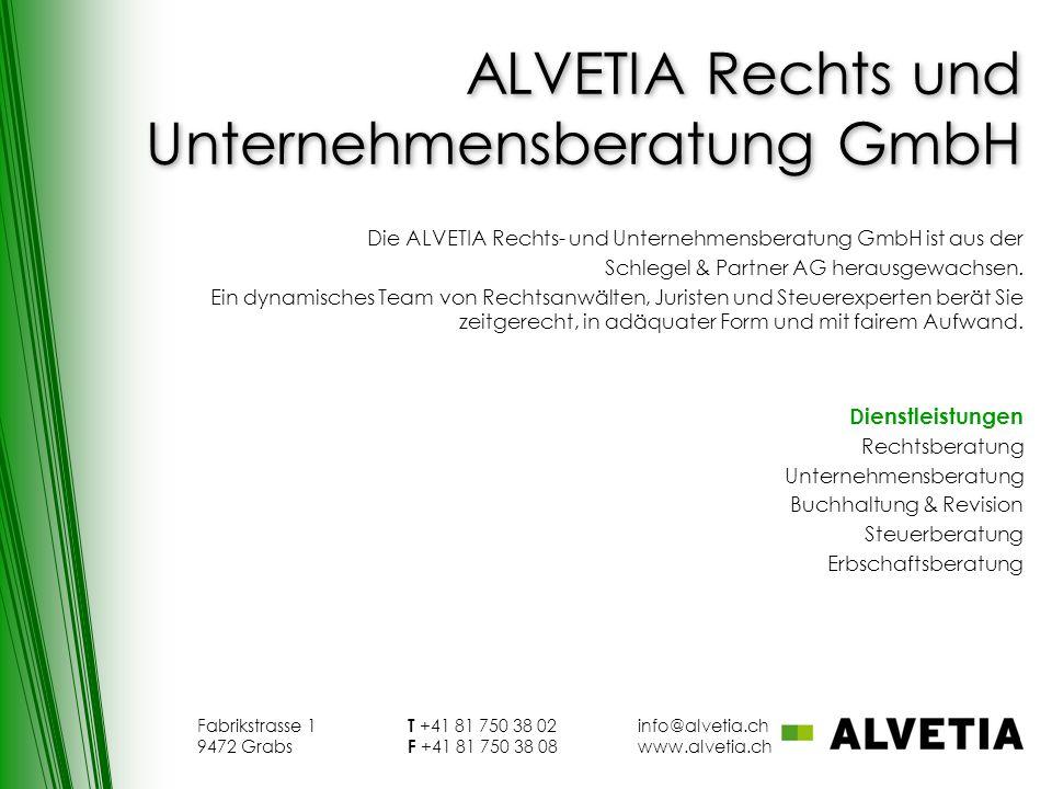 ALVETIA Rechts und Unternehmensberatung GmbH