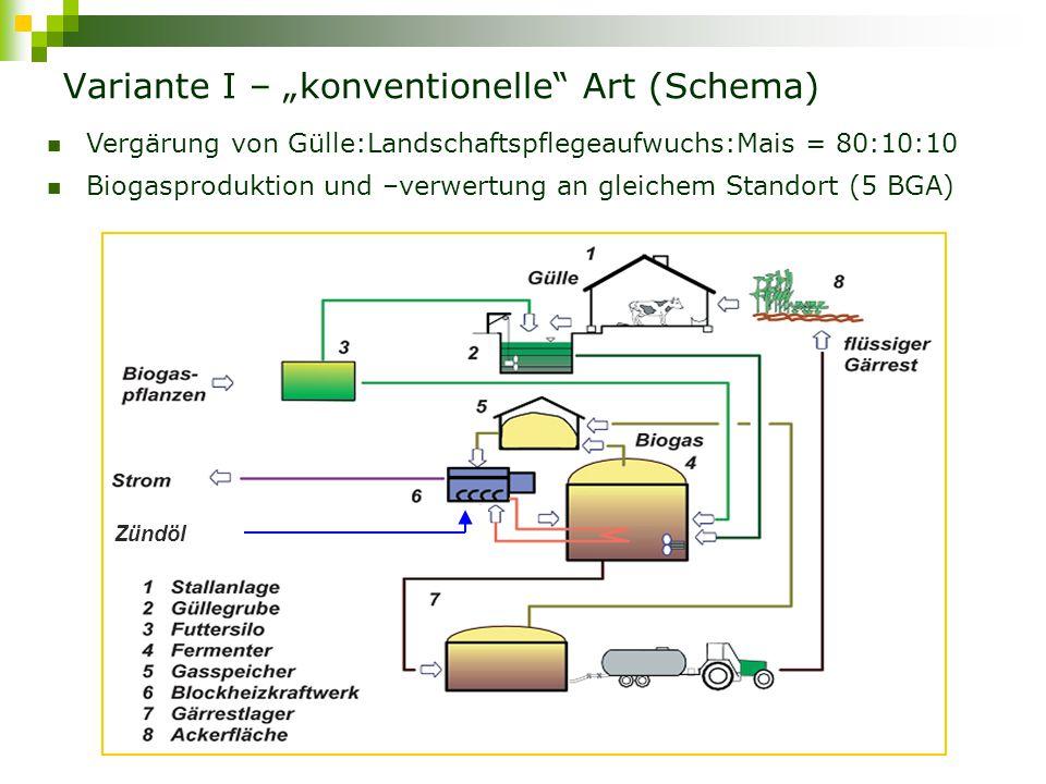 """Variante I – """"konventionelle Art (Schema)"""