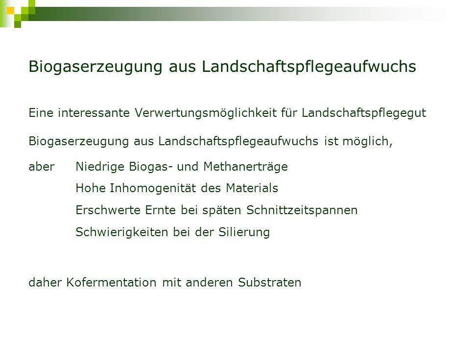 Biogaserzeugung aus Landschaftspflegeaufwuchs