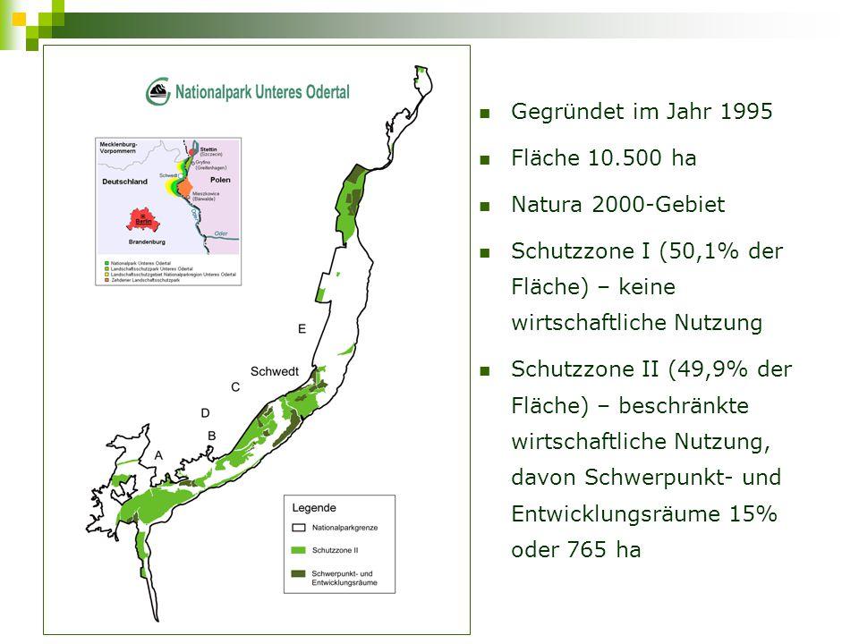 Schutzzone I (50,1% der Fläche) – keine wirtschaftliche Nutzung