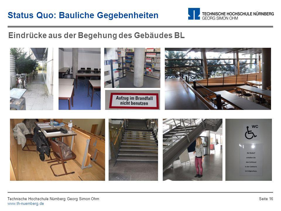 Status Quo: Bauliche Gegebenheiten