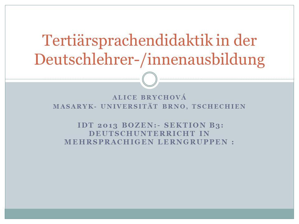 Tertiärsprachendidaktik in der Deutschlehrer-/innenausbildung