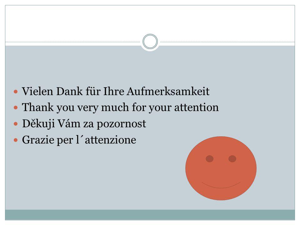 Vielen Dank für Ihre Aufmerksamkeit