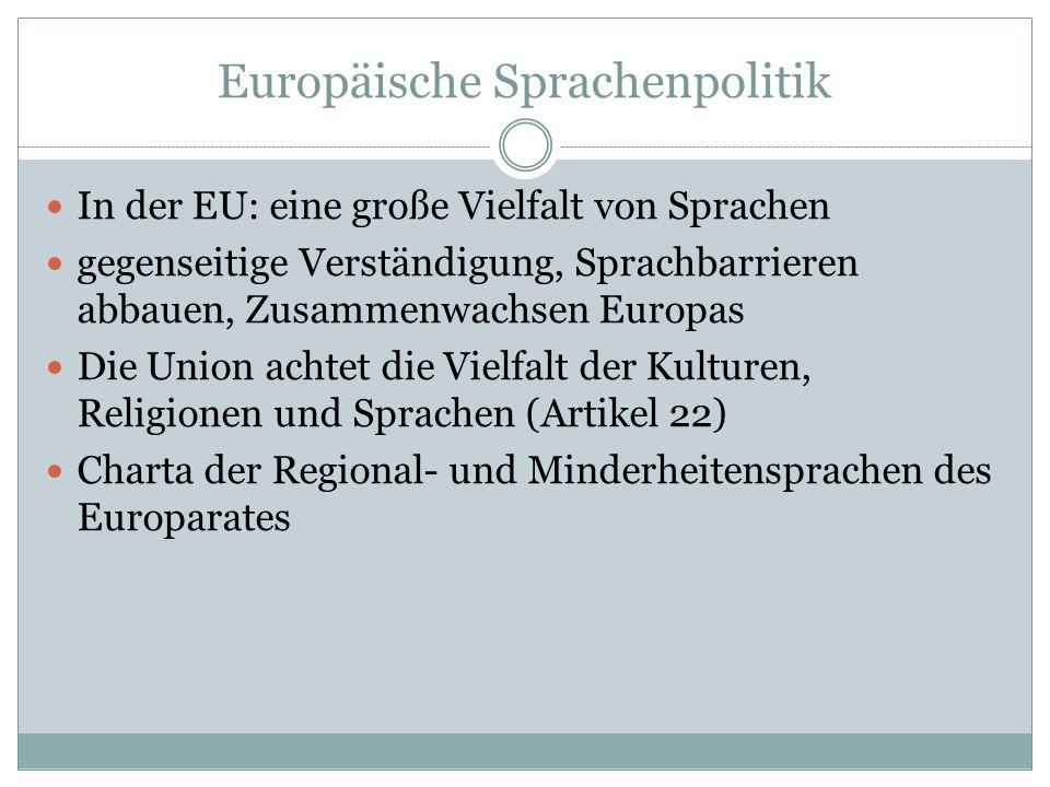 Europäische Sprachenpolitik
