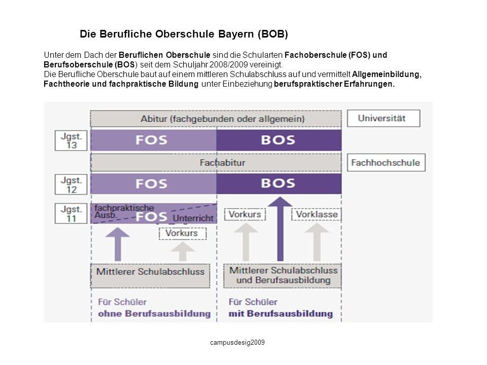 Die Berufliche Oberschule Bayern (BOB)