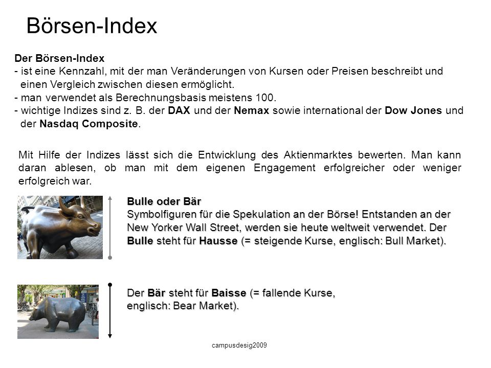 Börsen-Index Der Börsen-Index