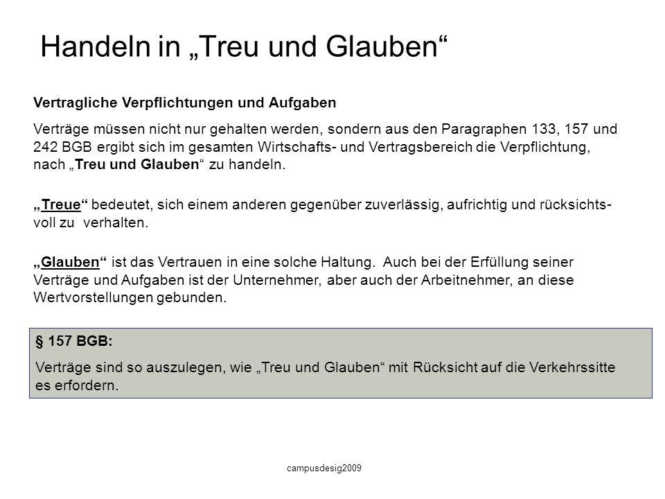 """Handeln in """"Treu und Glauben"""