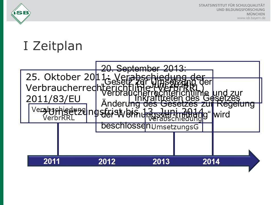 I Zeitplan 20. September 2013:
