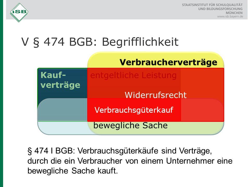 V § 474 BGB: Begrifflichkeit