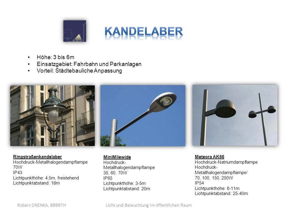 Licht und Beleuchtung im öffentlichen Raum