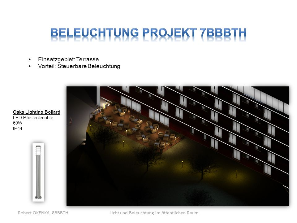 Beleuchtung Projekt 7BBBTH