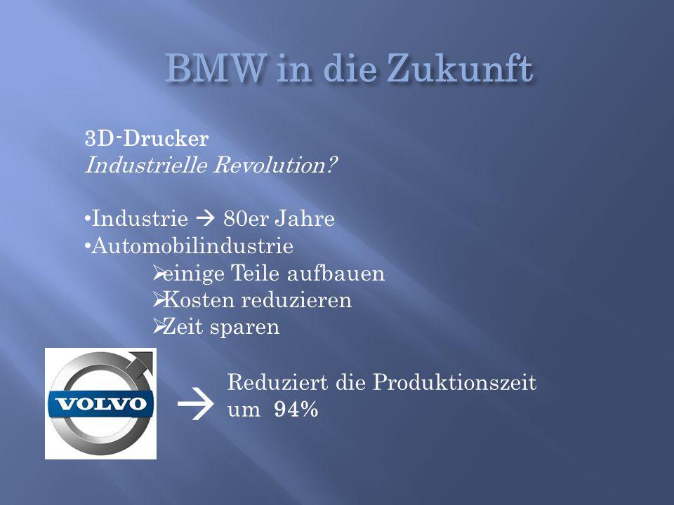  BMW in die Zukunft 3D-Drucker Industrielle Revolution
