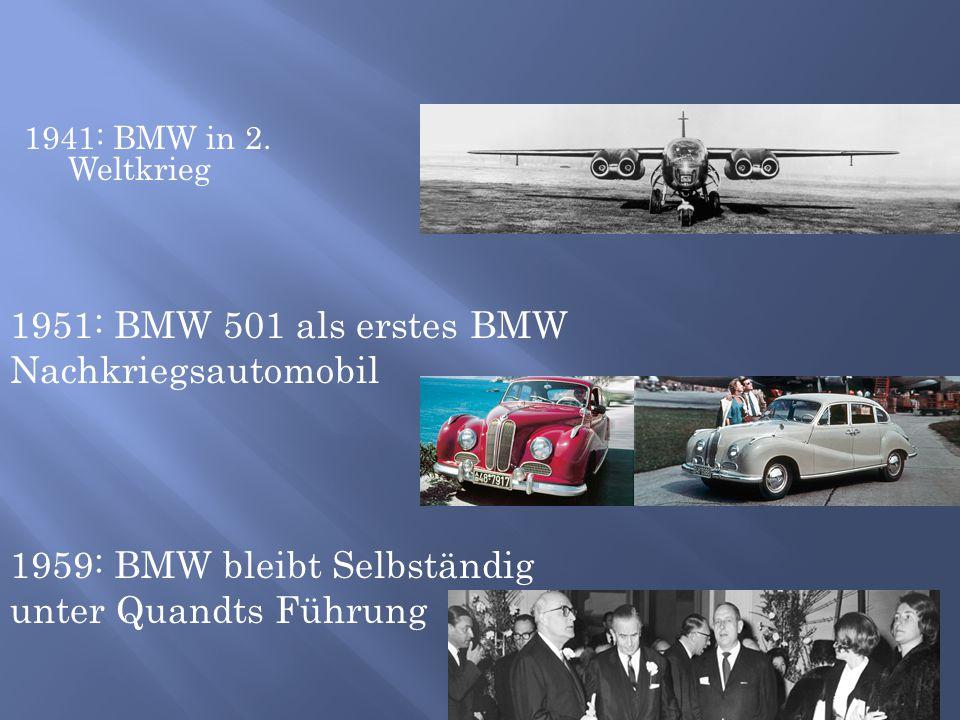 1951: BMW 501 als erstes BMW Nachkriegsautomobil