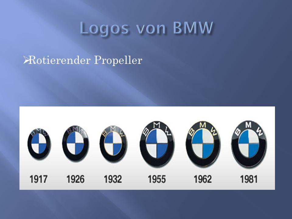 Logos von BMW Rotierender Propeller